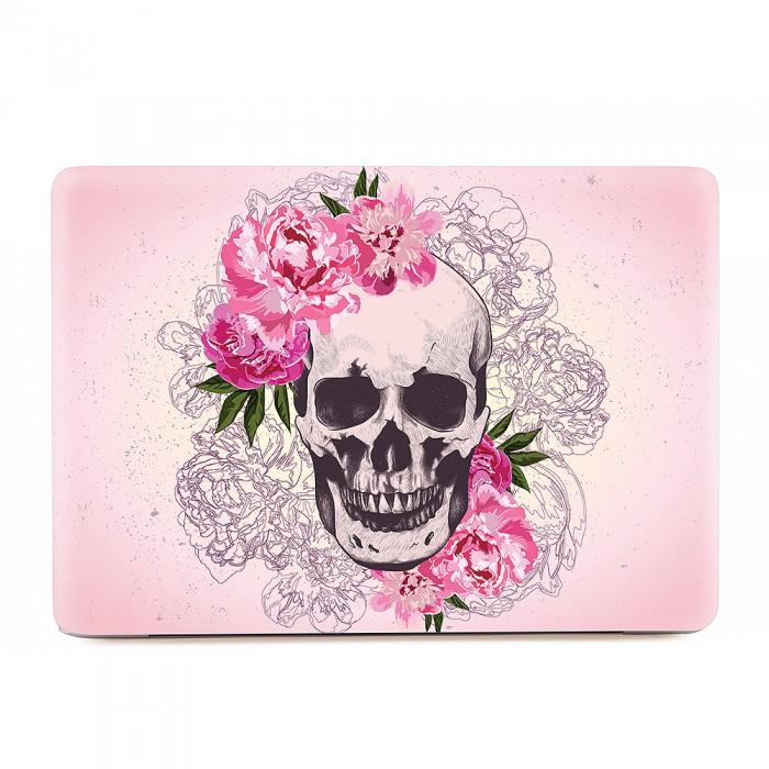 Pink flower skull macbook skin decal pink flower skull apple macbook skin decal mightylinksfo