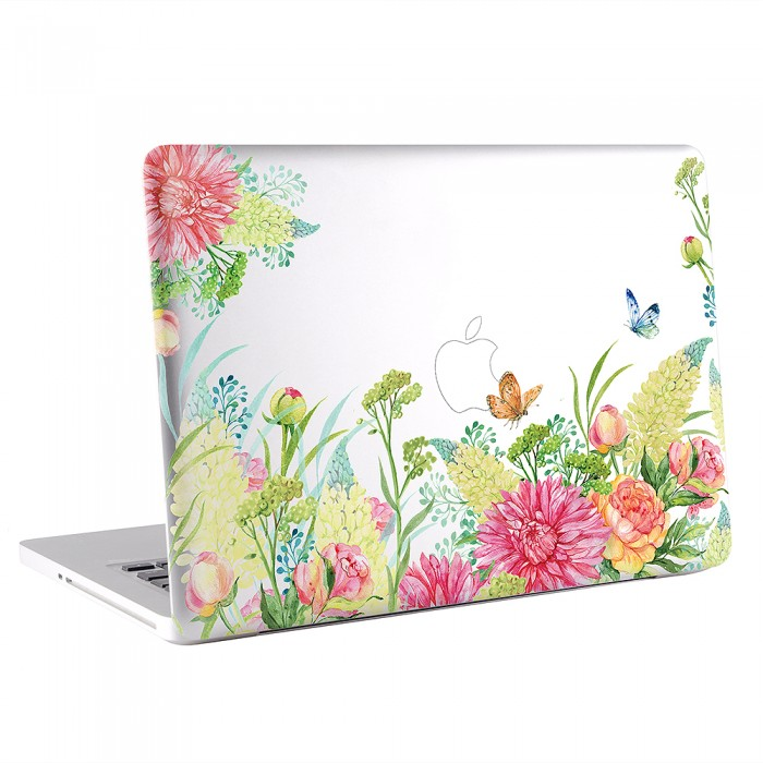 Floral and Butterfly Watercolor  MacBook Skin / Decal  (KMB-0653)