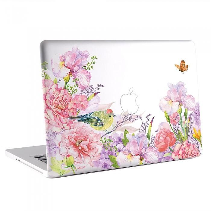 Floral and Bird Watercolor  MacBook Skin / Decal  (KMB-0654)