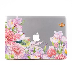 Floral and Bird Watercolor  Apple MacBook Skin / Decal