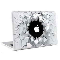 3D Breaking Wall Apple MacBook Skin / Decal