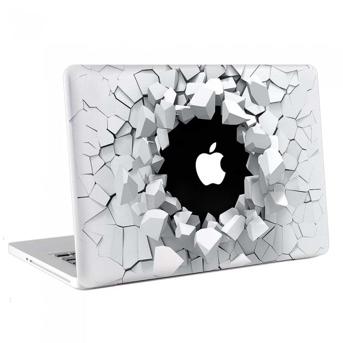 3D Breaking  Wall  MacBook Skin / Decal  (KMB-0700)