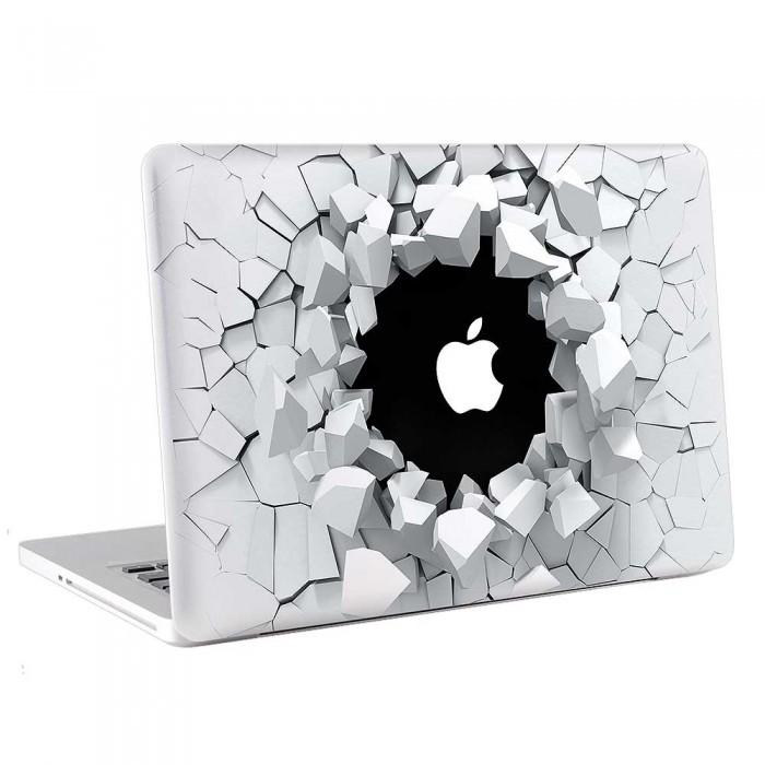 3D Breaking  Wall  MacBook Skin / Decal  (KMB-0700)