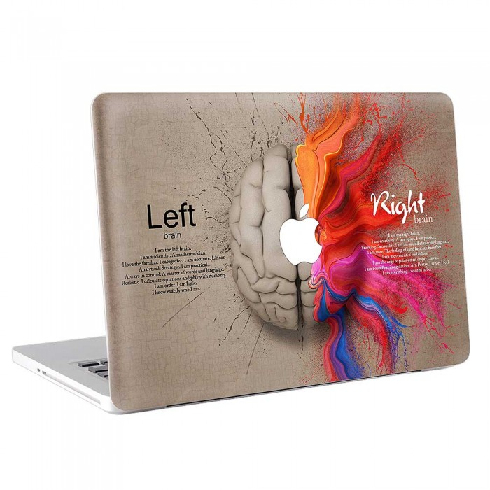 Left Brain Right Brain creative  MacBook Skin / Decal  (KMB-0702)