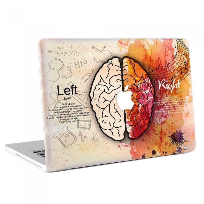 Left Brain vs Right Brain  MacBook Skin / Decal  (KMB-0703)