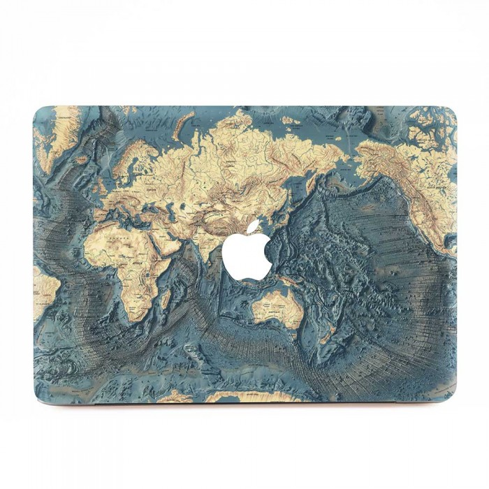 World map floor of the ocean macbook skin decal world map floor of the ocean apple macbook skin decal gumiabroncs Gallery