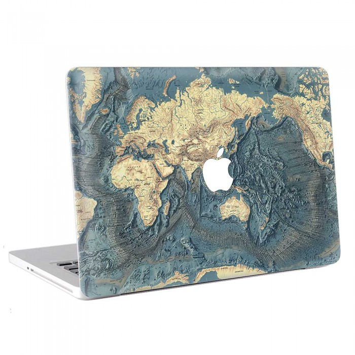 World Map floor of the Ocean  MacBook Skin / Decal  (KMB-0712)