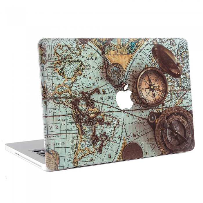 Pirate World Map.Retro Pirate World Map Macbook Skin Decal