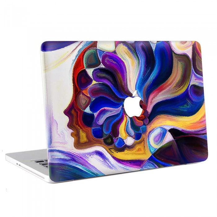 Abtract woman face Painting  MacBook Skin / Decal  (KMB-0736)