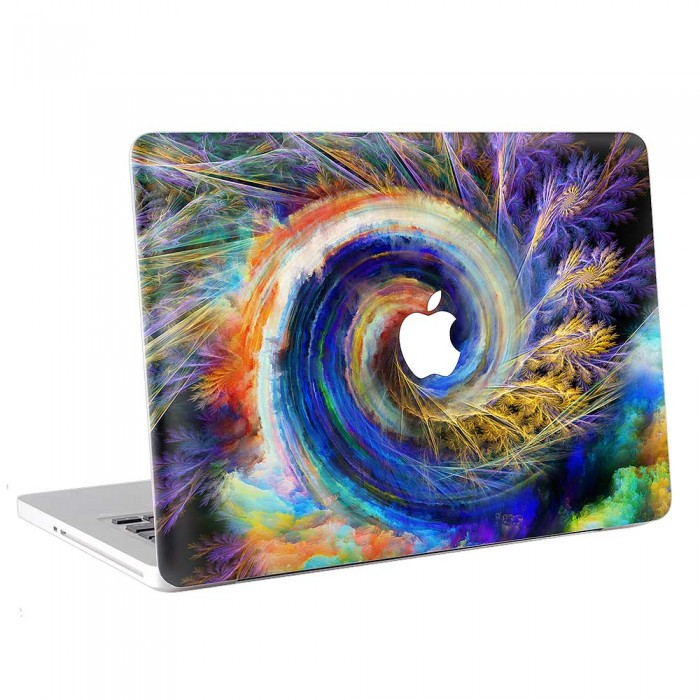 Abstract  Color Swirls Spiral  MacBook Skin / Decal  (KMB-0746)