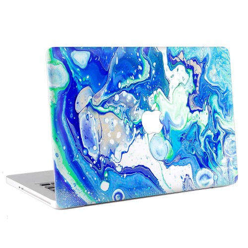 Blue Abstract Marble  Apple MacBook Skin / Decal