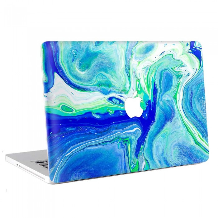 Liquid Texture Blue Marble  MacBook Skin / Decal  (KMB-0751)
