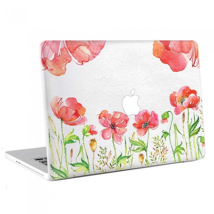 Watercolor Red Flower  MacBook Skin / Decal  (KMB-0758)