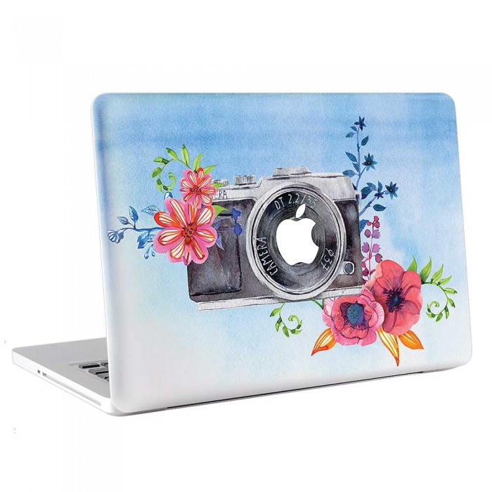 Watercolor Vintage Camera  MacBook Skin / Decal  (KMB-0764)