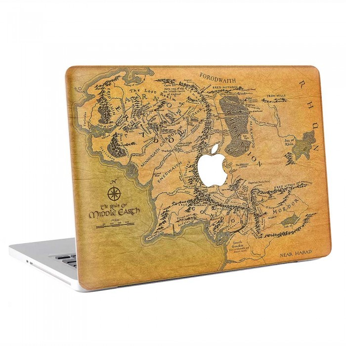 Map of Middle Earth - Lord of the Rings MacBook Skin / Decal (KMB-0855)