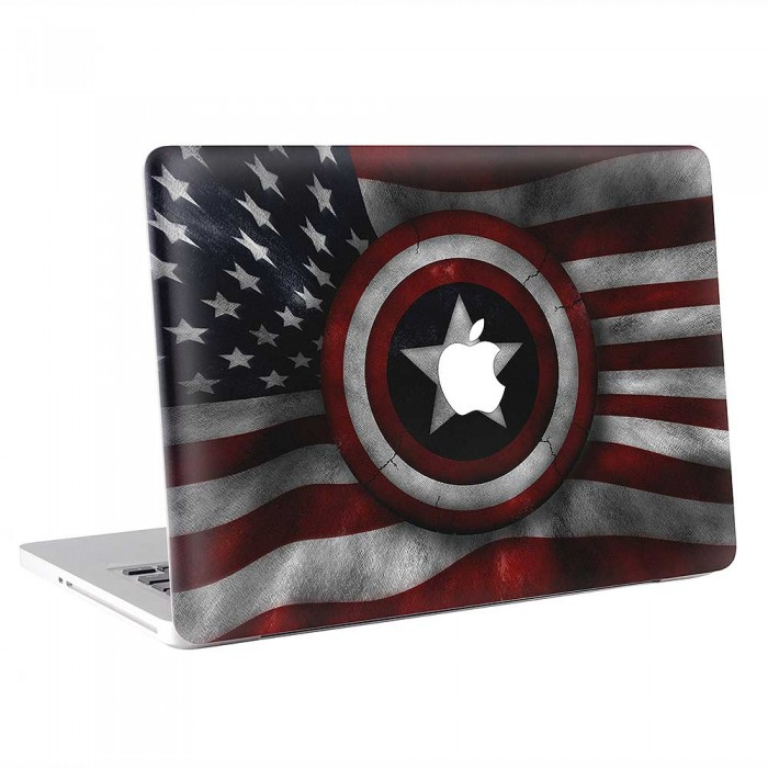 Captain America Flag  MacBook Skin / Decal  (KMB-0862)