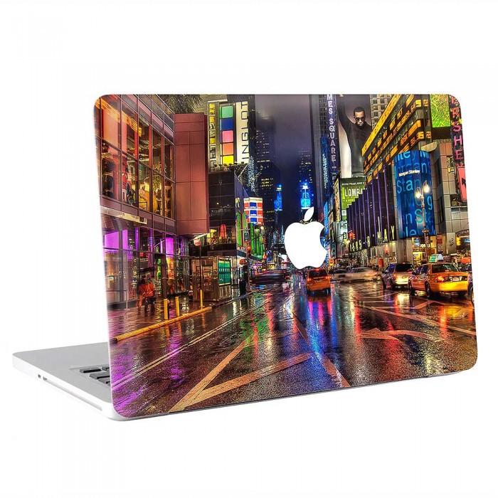 New York City Street Night America  MacBook Skin / Decal  (KMB-0865)