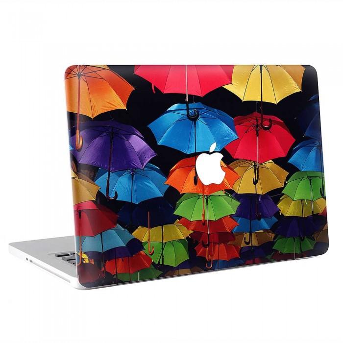 Colorful Umbrellas Rainbow  MacBook Skin / Decal  (KMB-0871)
