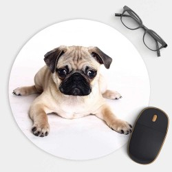 Pug Puppy Dog Mouse Pad Round or Rectangle