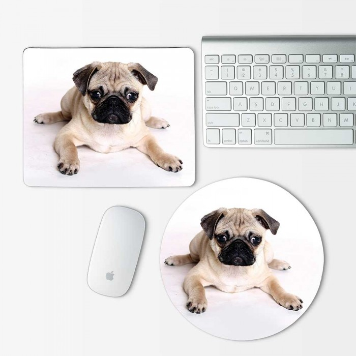 Pug Puppy Dog Mouse Pad Round or Rectangle (MP-0005)