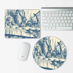 Alice in Wonderland Tea Party Mouse Pad Round or Rectangle