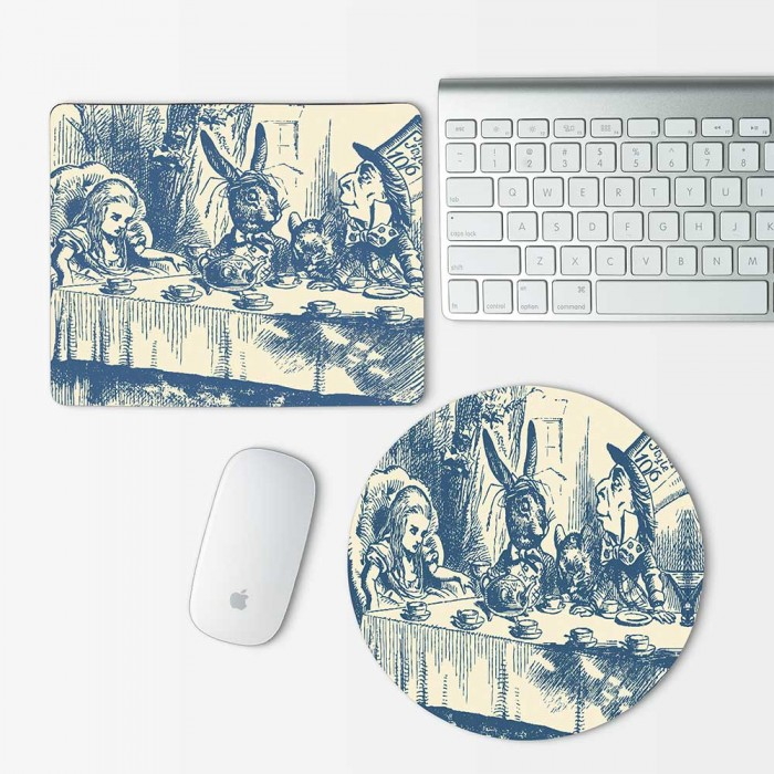 Alice in Wonderland Tea Party Mouse Pad Round or Rectangle (MP-0006)