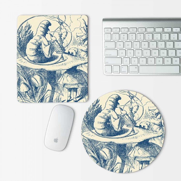 Caterpillar Alice in Wonderland Mouse Pad Round or Rectangle (MP-0007)