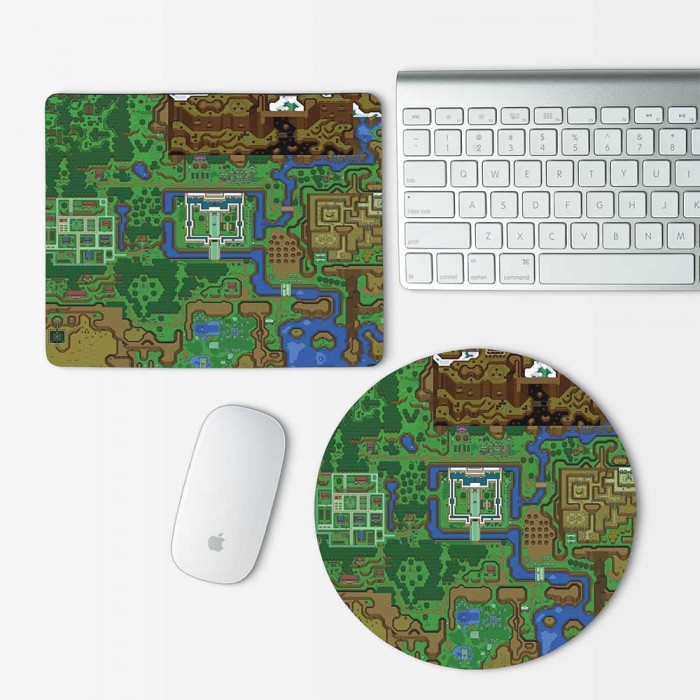 The Legend of Zelda World Map Mouse Pad Round or Rectangle (MP-0010)