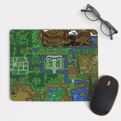 The Legend of Zelda World Map  Mouse Pad Round or Rectangle