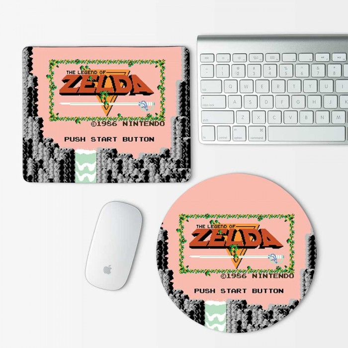 The Legend Of Zelda Start Button  Mouse Pad Round or Rectangle (MP-0011)