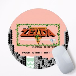 The Legend Of Zelda Start Button Mouse Pad Round or Rectangle
