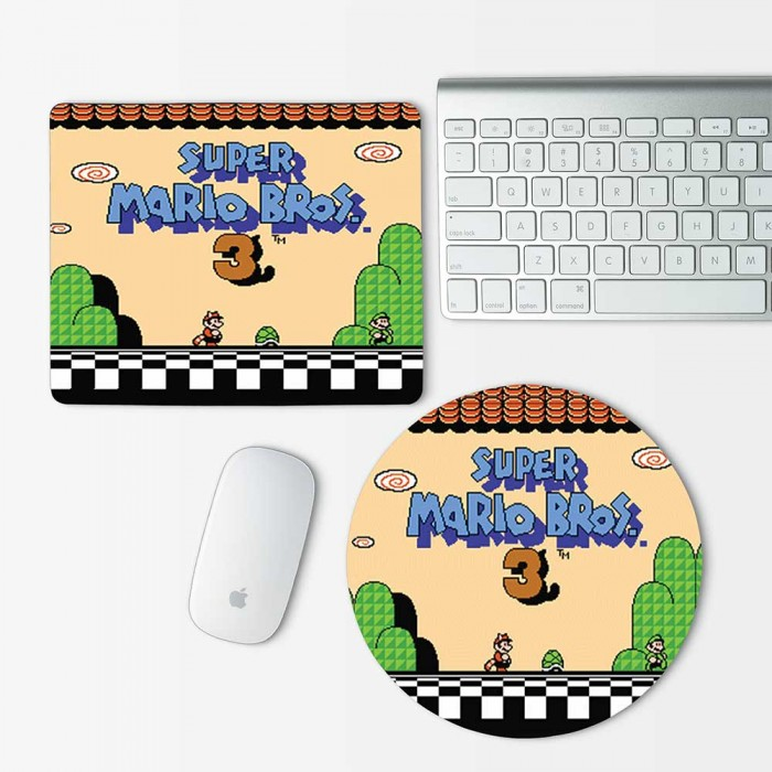 Super Mario Bros 3 Mouse Pad Round or Rectangle (MP-0012)
