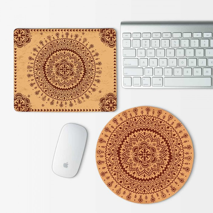 Indian Ornament  Mouse Pad Round or Rectangle (MP-0014)