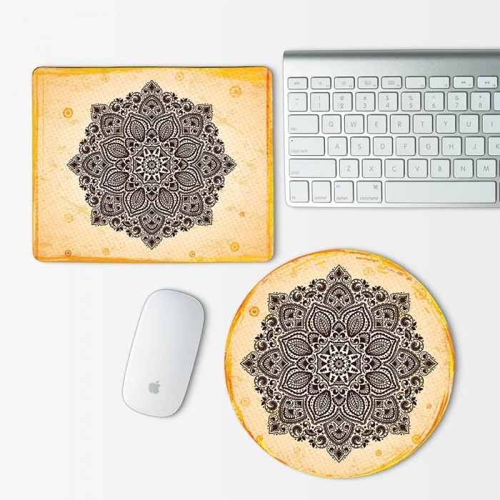 Indian Ornament Mandala  Mouse Pad Round or Rectangle (MP-0015)