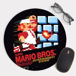 Super Mario Bros  Mouse Pad Round or Rectangle
