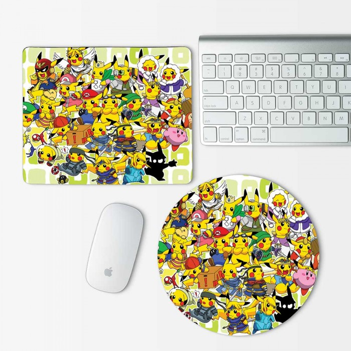 Pokemon Anime Mouse Pad Round or Rectangle (MP-0018)