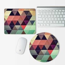 Geometric Pattern Mouse Pad Round or Rectangle