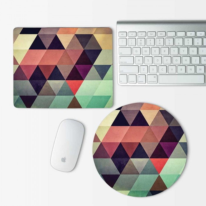 Geometric Pattern Mouse Pad Round or Rectangle (MP-0019)