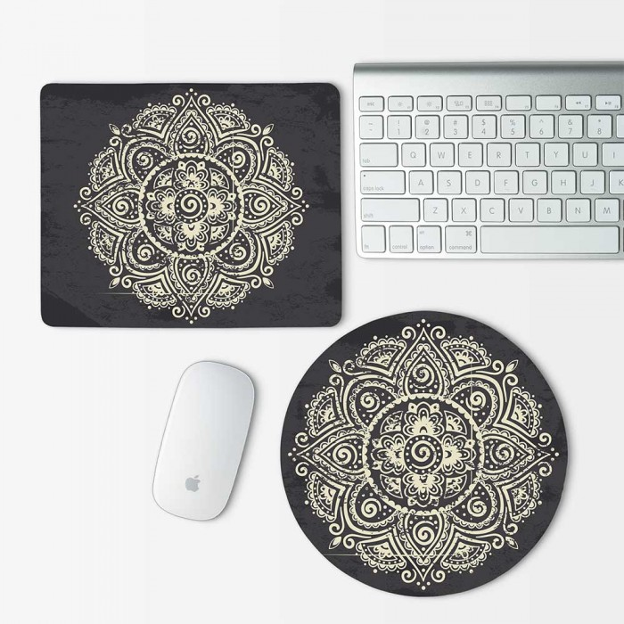 Indian Ornament 2 Mouse Pad Round or Rectangle (MP-0021)