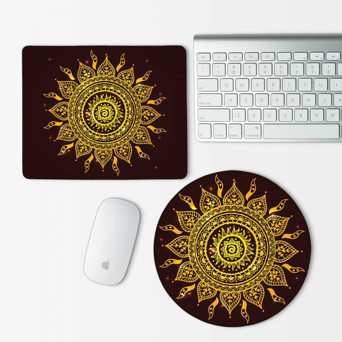 Indian Ornament 4 Mouse Pad Round or Rectangle (MP-0023)