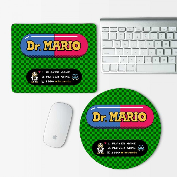 Dr.Mario Push Start Mouse Pad Round or Rectangle (MP-0025)