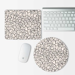 Becausecats Art Mouse Pad Round or Rectangle