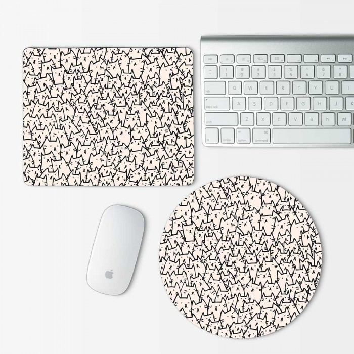 Becausecats Art Mouse Pad Round or Rectangle (MP-0026)