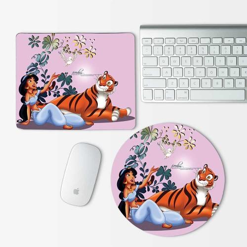 Disney Princess Jasmine Aladdin Mouse Pad Round or Rectangle