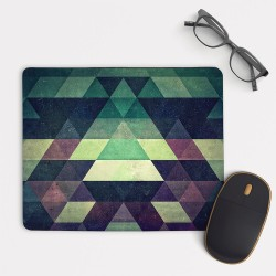 Green Abtract Geometric Pattern Mouse Pad Round or Rectangle