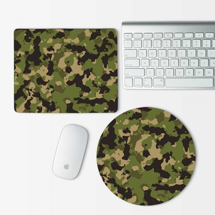 Camouflage Patterns Army Woodland Mouse Pad Round or Rectangle (MP-0035)