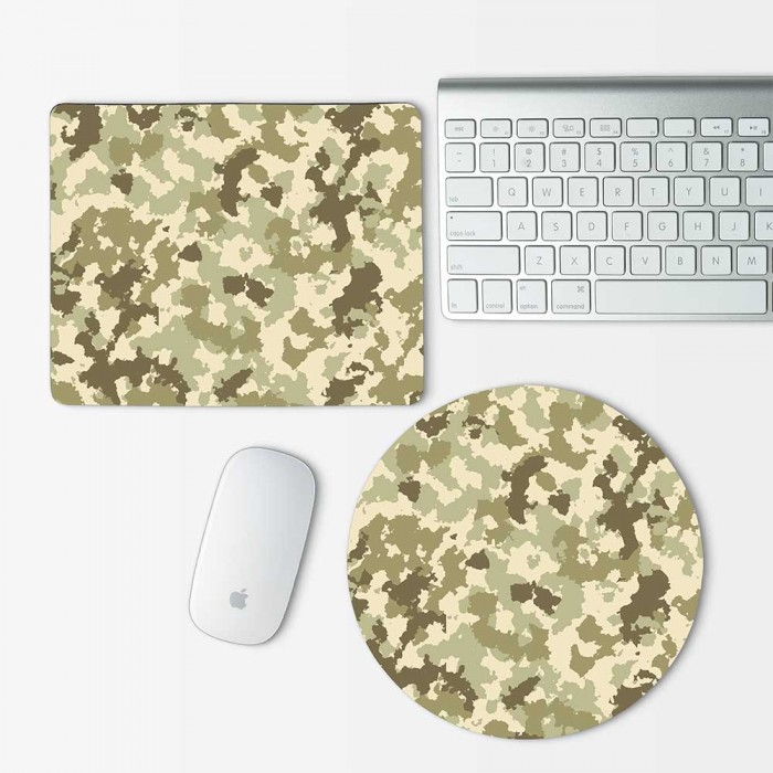 Camouflage patterns army Desert Mouse Pad Round or Rectangle (MP-0036)