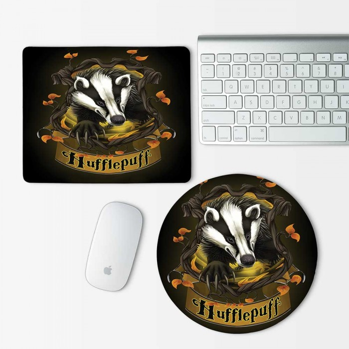 Harry Potter Houses Hufflepuff Mouse Pad Round or Rectangle (MP-0037)