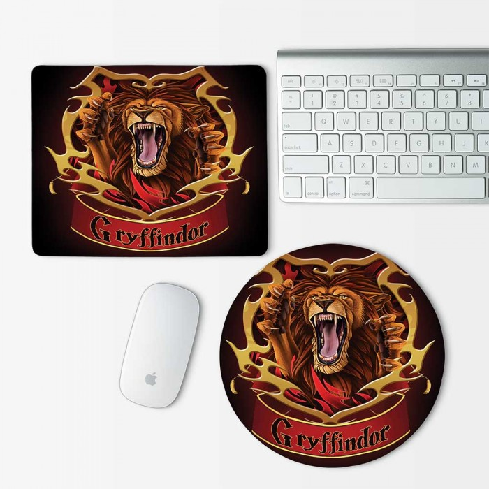 Harry Potter Houses Gryffindor Mouse Pad Round or Rectangle (MP-0038)