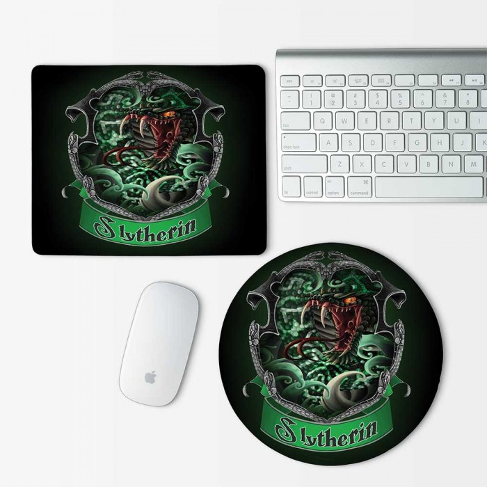 Harry Potter Houses Slytherin Mouse Pad Round or Rectangle (MP-0040)